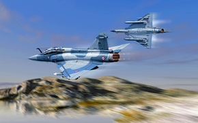Picture art, Dassault, The French air force, Dassault Aviation, French multi-role fighter of the fourth generation, …