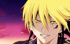 Picture demon, long hair, eyes, anime, man, boy, face, blonde, hero, asian, manga, commander, japanese, leader, ...