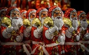 Picture Christmas, Chocolate, Santa Claus