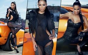 Picture auto, look, girl, Lamborghini, Nicole Scherzinger, Erotic