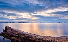 Picture the sky, water, lake, river, photo, landscapes, log