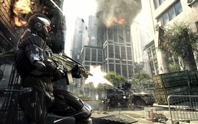 Wallpaper Shooting, The city, Slaughter, Weapons, Crisis 2, Crysis 2