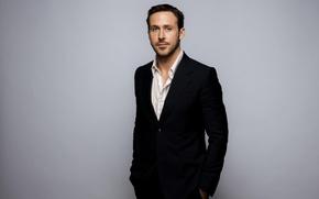 Wallpaper background, costume, actor, jacket, photoshoot, Ryan Gosling, Ryan Gosling, LA Times, Jay L Clendenin