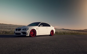 Picture car, BMW, white, E92