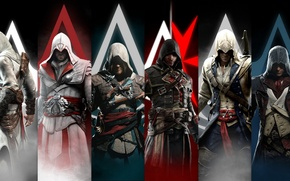 Picture Assassin's Creed, Connor Kenway, Edward Kenway, Ezio Auditore, Arno Dorian, Shay Patrick Cormac, Altair Ibn …