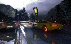 Picture rain, race, the game, race, mercedes, rain, race, amg, romeo, 2014, PS4, alfa, 2015, Driveclub, …