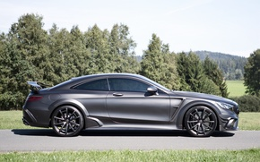 Picture black, Mercedes-Benz, side, Mercedes, AMG, Black, Mansory, AMG, S-Class, 2015, C217