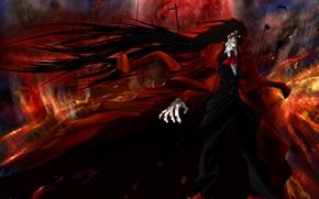 Picture Anime, Hellsing, vampire, Alucard, crazy.