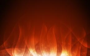 Wallpaper orange, background, flame
