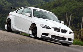 Picture white, background, tuning, BMW, BMW, tuning, the front, E92, Alpha-N, BT92