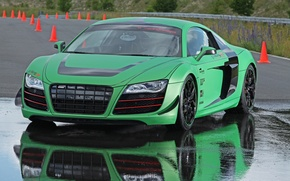 Picture auto, water, machine, reflection, audi, tuning, puddle, racing one