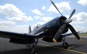Wallpaper carrier-based fighter, Corsair, aviation