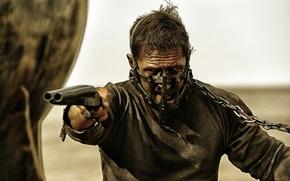 Picture frame, shotgun, postapokalipsis, Tom Hardy, Tom Hardy, Mad Max: Fury Road, Mad Max: fury Road, …
