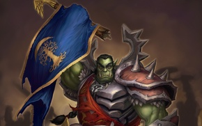 Wallpaper warrior, wow, Orc, victory, world of warcraft, warrior, ork, Horde, Glenn Rane, Horde victory, Horde