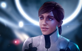 Picture woman, art, red, mass effect, bioware, andromeda, Mass Effect: Andromeda