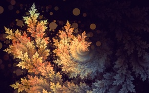 Wallpaper carved, bokeh, background, abstraction, art, spiral, leaves