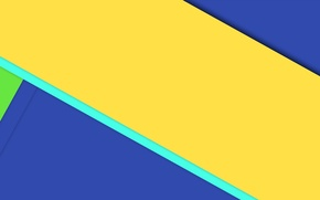 Picture line, blue, yellow, geometry, design, color, material