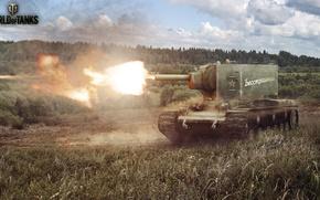 Picture Shot, KV-2, World of Tanks, Soviet heavy assault tank