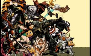Picture Morrigan, Resident Evil, Iron Man, captain america, venom, Spider-Man, Tony Stark, Chris Redfield, symbiote, magneto, …