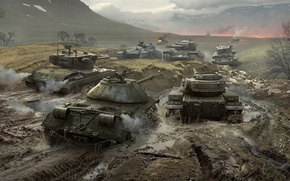 Picture WoT, World of Tanks, World Of Tanks, Is-3, Wargaming Net, Cromwell, T34, T37, Bat.-Châtillon 25 …