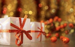 Picture background, holiday, gifts