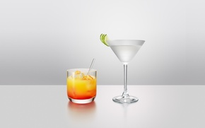 Picture glass, background, glass, Table, cocktails