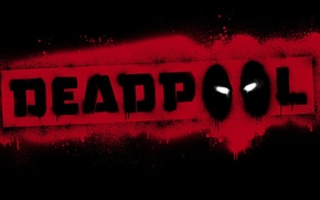 Picture red, black, logo, Deadpool