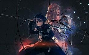 Picture Kirito, asiatic, love, black hair, asian, warrior, Knights of the Blood, To kiriga, Coat of ...