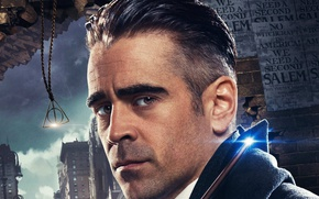 Wallpaper cinema, USA, magic, New York, man, movie, Harry Potter, Colin Farrell, film, wizard, witch, spell, ...