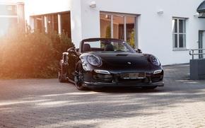 Picture 911, Porsche, convertible, Porsche, Black, Turbo, Cabriolet, turbo, TechArt