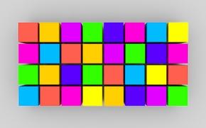 Wallpaper paint, the volume, texture, cubes, line, square