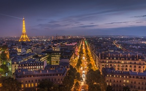 Picture night, the city, lights, France, Paris, tower, home, Eiffel, Paris, night city, Eiffel tower