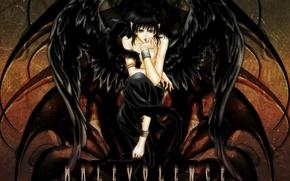 Picture black, wings, fallen angel