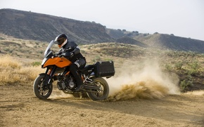 Picture motorcycle, helmet, KTM, 990, case, Supermoto T