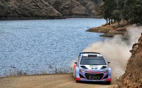 Picture Dust, Lake, Hyundai, WRC, Rally, i20