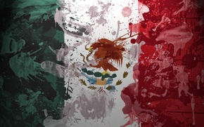Wallpaper paint, Mexico, Flag, eagle