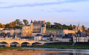 Picture bridge, the city, photo, castle, France, Amboise