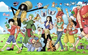 Picture sake, game, Chopper, One Piece, pirate, nothing, anime, brook, katana, crossover, ken, Robin, captain, asian, …