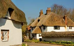 Picture landscape, England, home, cottage, the village