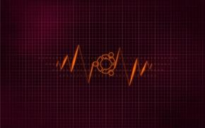 Picture purple, minimalism, linux, ubuntu