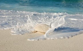 Picture Water, Sand, The ocean, Beach, Stone