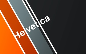 Picture typography, font, Helvetica