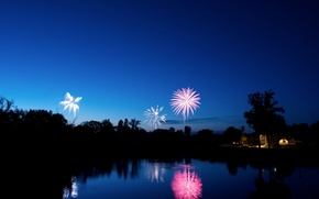 Picture the evening, Blue, fireworks