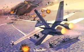 Picture war, the game, figure, battle, art, Boeing, game, I love it, super hornet, F/A-18E