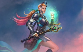 Picture girl, rod, Juggernaut Wars, Healer Cassandra