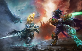Picture Game, Magic, Battle, Swords, Fiction, World of WarCraft, Zeratul, Heroes of the Storm