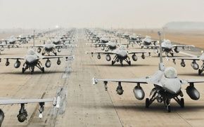 Picture weapons, the airfield, aircraft, F16