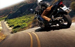 Wallpaper road, motorcycle, bike, moto, road, auto walls, slopes, hills