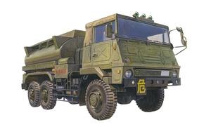 Picture figure, art, Fuel, Truck, Japanese, Tank, tanker, JGSDF 3.5 t, .artists H. Sasaki &T. Kurokawa