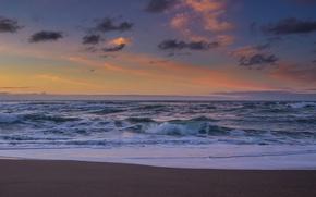 Picture sand, beach, landscape, the ocean, dawn, shore